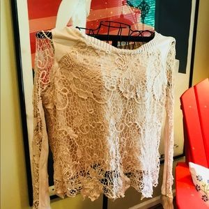 Free People Crocheted Knot L/S sweater Size: L